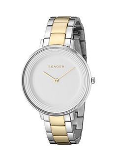 Skagen Womens SKW2339 Ditte Two Tone Silver and Gold Link Watch -- Click on the image for additional details.Note:It is affiliate link to Amazon. #picoftheday