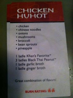 Chicken Hu Hot Huhot Recipe, Mushroom Broccoli, Bean Sprouts, Recipe Cards, Stuffed Mushrooms, Chicken, Dinner, Recipes, Furniture