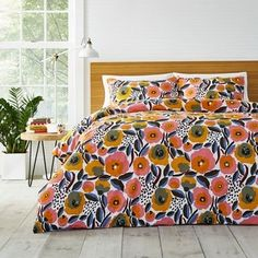 Love a bold, colorful bedding pattern? 👀 Switch things up for the season with the Marimekko® Rosarium Bedding Collection. 💐 Shop it now via the link in our bio! Twin Comforter Sets, Duvet Sets, Duvet Cover Sets, Floral Comforter, Ruffle Duvet, Colorful Bedding, Luxury Bedding Sets, Modern Bedding, King Comforter