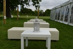 Outdoor marquee seating