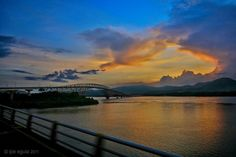 Sunset at San Juanico bridge, Philippines