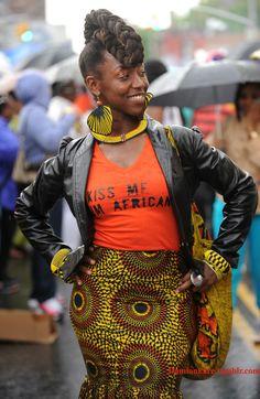 "damionkare: "" Fort Greene, Brooklyn Photographer: Damion Reid ~African fashion, Ankara, kitenge, African women dresses, African prints, African men's fashion, Nigerian style, Ghanaian fashion ~DKK"