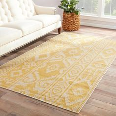 Handmade Flat Weave Tribal Pattern Yellow Rug (8' x 10') diff color