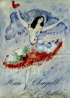 Marc Chagall's drawing of Alicia Markova for the ballet Aleko