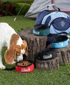Set of 4 Colman Travel Pet Bowls - Dog Bowls - Travel Water Bowls - Pet Supplies #Colman
