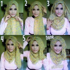 Step By Step Hijab Tutorial With Folds
