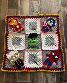 Handmade Baby Blanket - Crochet Baby Blanket - Avenger Baby Blanket - Avengers - Superhero Baby Blanket