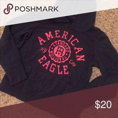 XL JUNIORS American Eagle Hoody Blue, Pink, American Eagle Hoody Sweatshirt American Eagle Outfitters Tops Sweatshirts & Hoodies