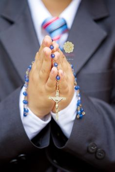 First Communion Boy with Rosary