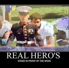❤️This Pictures says it ALL❤️ if these disrespectful athletes want to do something about the inequality they think exists, why don't they share their money with others or actually go to our White House and talk intelligently with President Trump-that would be the way to get something done!
