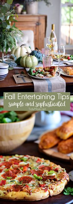 Fall Entertaining can be simple and still be elegant. There's nothing like the magic of a small cozy fall dinner party—good company, a simple but radiant table,  delicious stress-free food and everyone feels relaxed  Get all the fall entertaining tips and ideas at TidyMom.net via @tidymom