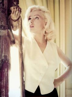 Marilyn photographed by Milton Greene at Joe Schenck's Villa, a month after Marilyn and Milton's first sitting, October 1953.