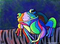 The Fine Art of Napping by AEMgallery on Etsy Art Pop, Mosaic Animals, Colorful Animals, Stained Glass Patterns, Animal Paintings, Painting Inspiration, Art Projects, Art Drawings, Original Paintings