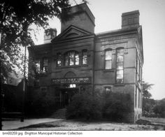 The Brighton Branch of the Rochester Public Library, located at 25 N. Winton Road, north of East Avenue.The building began as Brighton School District No. 2. When the area was annexed by the City of Rochester it became Rochester Public School No. 1 in 1905. Martin Brewer Anderson School No. 1 replaced it in 1922. The building opened as a library branch on Jan. 2, 1923. This building was in use until plans were announced to replace it with a new branch on Winton Road. A public auction of the