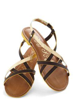 Furnish Your Portfolio Sandal in Brown, #ModCloth