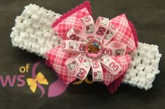 My daughter loves Hello Kitty, so I made her this beautiful headband.  It was a hit!
