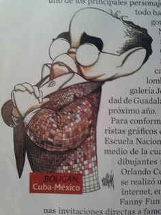 Garicatura de Gabo en Guadalajara