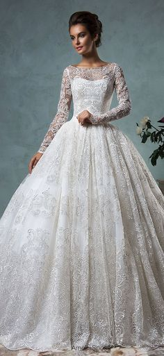 45 Chic Long Sleeve Wedding Dresses (New!) | http://www.deerpearlflowers.com/long-sleeve-wedding-dresses/