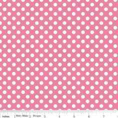 Riley Blake Designs - Cotton Dots Small - Small Dots in Hot Pink