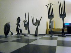 Silverware Chess Set