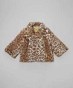 Look at this Brown Cheetah Trapeze Coat - Toddler