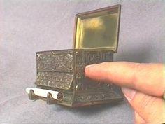 1940-1950 Egyptian Sarcophagus Cigarette Dispenser