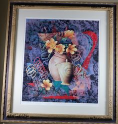 """Yankel Ginzburg """"Tea in the Afternoon"""" signed serigraph.  $199"""