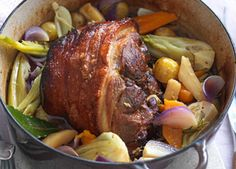 Pork shoulder pot roast... Slow cooking makes the pork in this one-pot roast truly tender...