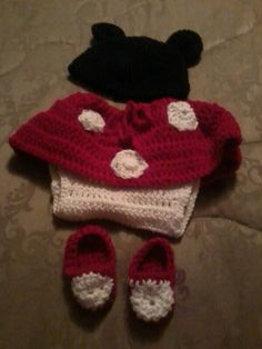 My minni mouse in red