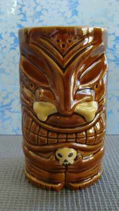 2005 Brown Goon Tiki Mug by Doug Horne, Made by Tiki Farms