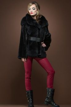 Black Mink and Fox Fur Jacket