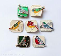 Vintage Soviet badges Soviet metal badge pin series by Soondook