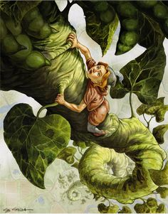 """Jack's Climb"" by Chris Canga ""Jack and the Beanstalk"""