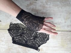 design of blouse Sale LACE CUFFS/Black French lace cuffs/detachable cuffs/Sleeve detail/French Calais lace/Sleeve cou Sewing Sleeves, Cuff Sleeves, Sewing Lace, Shirt Sleeves, Lace Cuffs, Lace Gloves, Sleeves Designs For Dresses, Sleeve Designs, Sewing Clothes