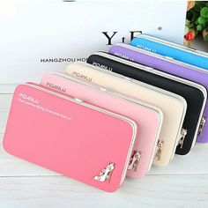 2016 New Fashion Ladies PU Leather Wallets High Quality Women's Bag Famous Band Women Classic Girls Coin Purse Clutch Wallet♦️ SMS - F A S H I O N 💢👉🏿 http://www.sms.hr/products/2016-new-fashion-ladies-pu-leather-wallets-high-quality-womens-bag-famous-band-women-classic-girls-coin-purse-clutch-wallet/ US $7.65