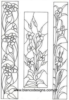 Flower Designs For Painting, Glass Painting Designs, Painting Patterns, Paint Designs, Stained Glass Flowers, Faux Stained Glass, Stained Glass Projects, Stained Glass Windows, Arte Do Galo