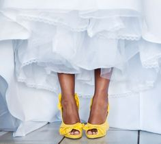 yellow wedding shoes - LOVE THESE!!!