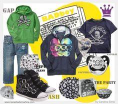 ♥ BADboy ... las calaveras también son TENDENCIA en Moda Infantil ♥   skulls trend