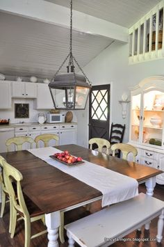 farmhouse Before/After transformation. On a rental!
