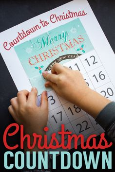 Countdown to Christmas with this free printable!