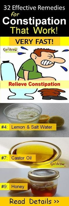 Constipation Treatment: 32 Effective Home Remedies to Relieve Constipation Immediately and Naturally, What Causes Constipation and Symptoms, How To Get Rid Of Constipation? Natural Laxatives for Fast Constipation Relief, Read More... #howtocureconstipation