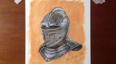 HOW I DRAW A MEDIEVAL HELMET (TIME-LAPSE DRAWING/ SPEED PAINTING)