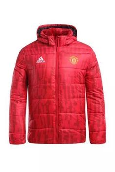 e9390b598 Manchester United F.C. Football club 2018 - 19 Adidas Red feather Jacket  Cotton padded coat TOP TRACKSUIT FÚTBOL CALCIO SOCCER CLUB FUSSBALL BNWT