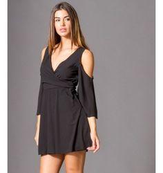Έξωμο Κρουαζέ Μίνι Φόρεμα - Μαύρο Black, Dresses, Fashion, Vestidos, Moda, Black People, Fashion Styles, The Dress, Fasion