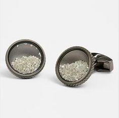 Tateossian 'Diamond Dust' cuff links. Extravagant, exclusive and exquisite.