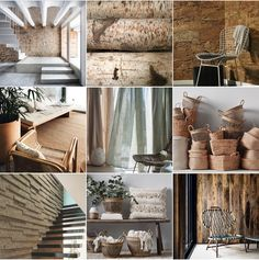 Humble Materials @michelleogundehin moodboard including images from @workshopliving @inexrevestimentos @armadilloandco @couleur_chanvre @hmhome @baxtermadeinitaly