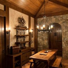 Traditional Wine Cellar Photos Design, Pictures, Remodel, Decor and Ideas - page 2 Medieval Home Decor, Medieval Houses, Medieval Decorations, Medieval Door, Taverna Medieval, Dungeon Room, Wine Cellar Design, Deco Addict, Tudor House