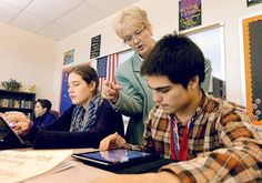 Central York freshmen learning with iPads - York Dispatch