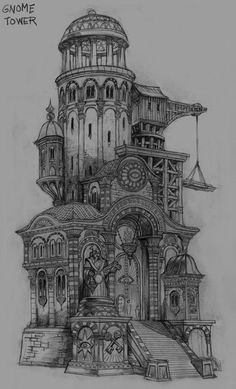 "architectural sketch {don't know why medieval architecture appeals to me, but it does} ""Kingdoms of Amalur: Reckoning"" Concept Art Concept Art Landscape, Fantasy Landscape, Fantasy Concept Art, Fantasy City, Fantasy World, Fantasy House, Illustration Fantasy, Medieval, Building Concept"