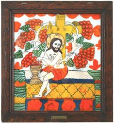 The Museum of the Icons on Glass - Sibiel Christian Paintings, True Vine, Jesus Art, School Resources, Sunday School, Vines, Angels, Museum, Frame